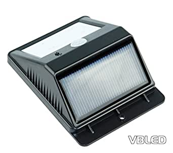Led solar motion sensor light treppenleuchte wandleuchte mauerbeleuchtung wegbeleuchtung - Wandbeleuchtung solar ...