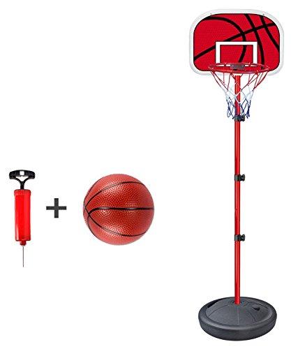 Produktbild Basketballkorb mit Ball & Pumpe,  höhenverstellbar (Indoor & Outdoor)