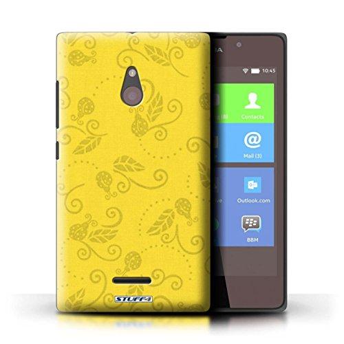 Kobalt® Imprimé Etui / Coque pour Nokia XL / Jaune conception / Série Motif Coccinelle Jaune