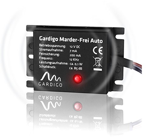 Gardigo Marder-Frei Auto, Marderschreck, Anschluss an 12V Autobatterie, schonender Marderschutz als KFZ - Zubehör