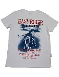Stummer Jungen T-Shirt EASY RIDER Motorrad Motiv weiß