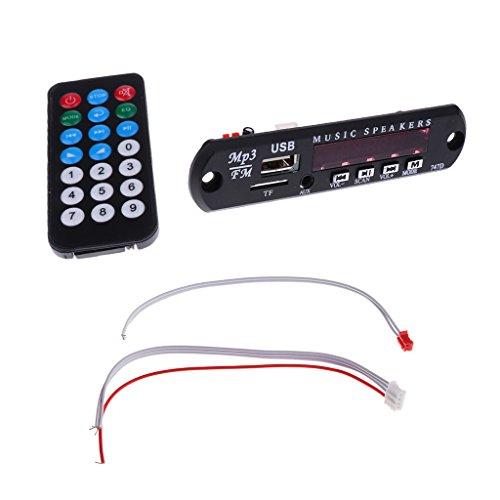 Sharplace Módulo de Decodificador Control Remoto Arnés de Audio Inalámbrico USB Bluetooth USB FM TF SD MMC MP3 WMA para Vehículos