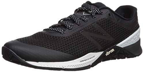 New Balance Men's 40v1 Minimus Cross Trainer, BlackWhiteMetallic Silver, 11 2E US