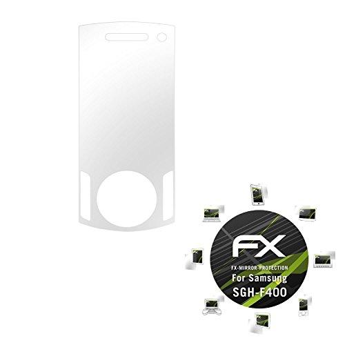 Samsung SGH-F400 Spiegelfolie - atFoliX FX-Mirror Displayschutz mit Spiegeleffekt