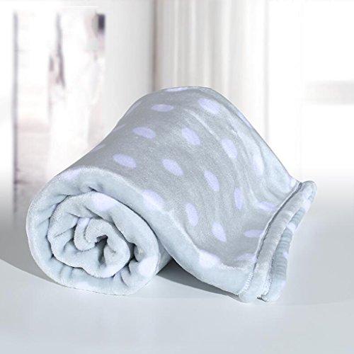 Rollsnownow Graue Welle Punkt Baby Decke Quilt Polyester Material Winter Kindergarten für Baby Design (100 * 150 cm)