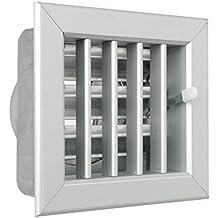 La ventilación gcsial1413100-y Rejilla integrado para chimeneas, aluminio, ...