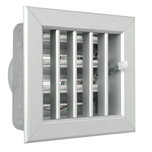 La Ventilazione GCSIAL1413100 Griglia Incasso per Camini, Alluminio, 140 x 130 mm