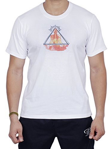 storeindya T-Shirts Yoga Wear Weiß Unisex Comfort 100% Baumwolle T-Shirt Für Meditation Laufen Sportlich Strand Sport Workouts Gym Fitness Training Body Wear Weihnachts-Erntedankgeschenk