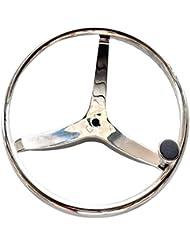 """Acero inoxidable volante Yacht Marina 15,5""""rueda de mano +)"""
