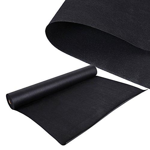 WilTec Toile Anti-Mauvaise Herbe Tissu Intissé Anti-Racines 30 x 1,5m Bloque Racines 150 g/m² Noir