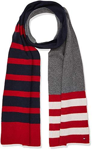 Tommy Hilfiger Seasonal Stripe Scarf Bufanda, Rojo Corporate 901, Talla única Talla del fabricante...