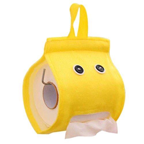 Papier Handtuchhalter Halterung Wand (Taschentuchspender tankerstreet, Bad WC Küche Papier Handtuchhalter Edelstahl Auto Tissue Halter Box House Tissue Cover Box Aufhängen Papier Folienrolle Halter Art WC-Papier Aufbewahrungsbox (gelb))