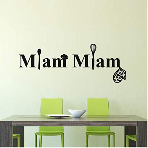 Lovemq Stickers Cuisine Française Miam Vinyle Sticker Mural Stickers Muraux Art Cuisine Carrelage Papier Peint Décor À La Maison Décoration De La Maison 21 * 57 Cm