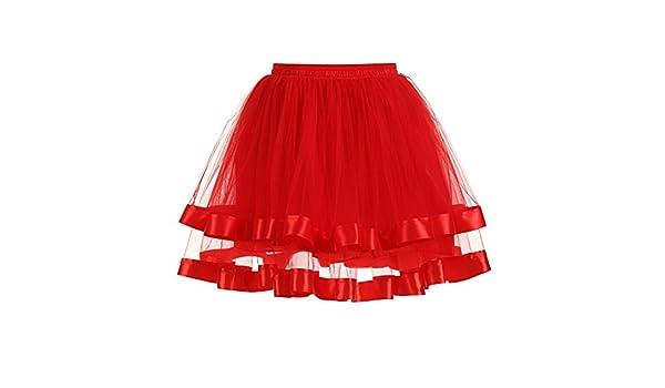 Goodtimes28 Womens Vintage Double Layers Tutu Petticoat Gauze Skirt Elegant Prom Party Dress: Amazon.co.uk: Clothing