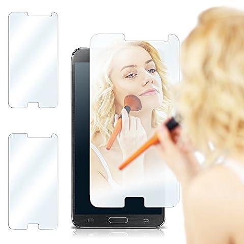 2x Samsung Galaxy Note 3 Spiegelfolie Display Schutz verspiegelt [Mirror] Screen Protector Handy-Folie Displayschutz-Folie für Samsung Galaxy Note 3 Schutzfolie vorne