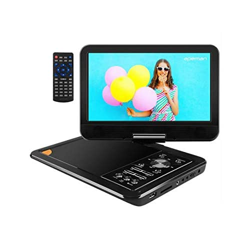 "APEMAN 2021 Upgraded 9.5"" Portable DVD Player with 8 hours Built-in Rechargeable Battery with Swivel Screen SD Card and…"