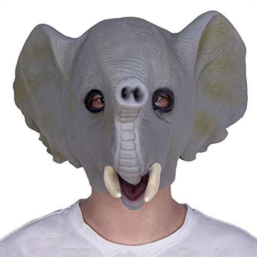 XDDXIAO Máscara Elefante Máscara de látex Carnaval de Halloween Mascarada Animal Lindo Adulto Casco