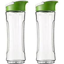 AmazonBasics - Botella de repuesto para Mix & Go, 600 ml, color transparente, pack de 2