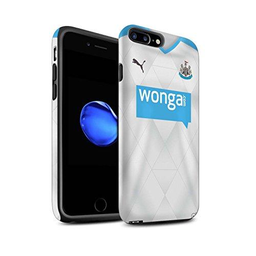 Officiel Newcastle United FC Coque / Matte Robuste Antichoc Etui pour Apple iPhone 7 Plus / Tioté Design / NUFC Maillot Extérieur 15/16 Collection Footballeur