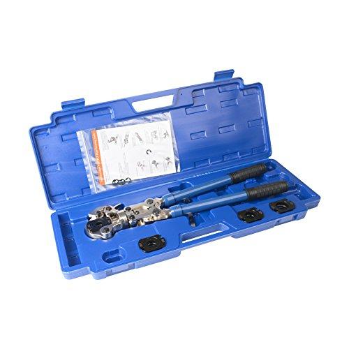 IWISS IWS-1632AF Sanitär Kupferrohrpresse Pressrohr Werkzeuge mit V15, V18, V22, V28 Backen Geeignet für Viega Kupfer, REMS.Nibco Conex Rohrverschraubungen