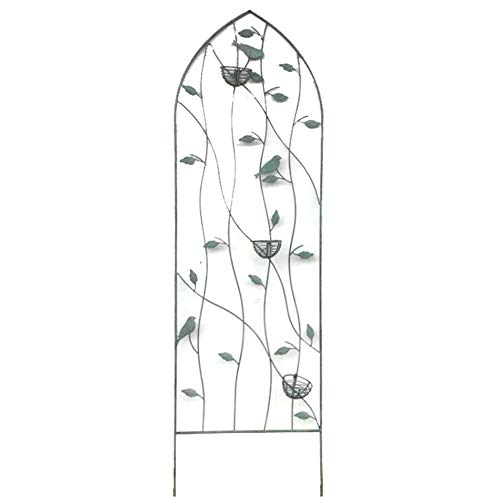 YYFANG Gartenzaun Holz Vintage Metallzaun Rose Pflanze Klettergerüst Hilfspflanzen Wachstum Wasserdicht Zaun Outdoor-Dekoration, 3 Größen (Color : Bronze-2pcs, Size : 45x151cm)