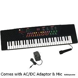 Chevron 54 Key Electronic & Musical Keyboard Piano (Black)
