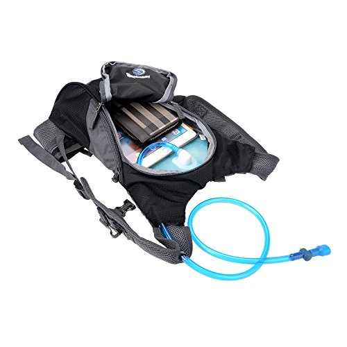 Hydration Rucksack Trinkrucksack(12L) mit Trinkblase(2L) Pack,Trinksystem Backpack - 4