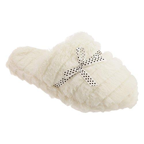 Pantofole con Memory Foam - Donna Crema
