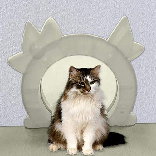 La porta for gatti si adatta a un'anima interna in vetro cavo vuoto Porta a 2 vie for animali domestici Foro nascosto Lettiera nascosta nel seminterrato Lavanderia Facile da installare