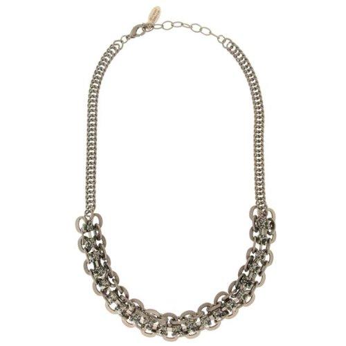 Sympathetic Deluxe Damen-Halskette Messing Lorella matt chocolate gold/ black diamond 2720