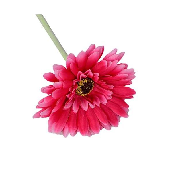 Sunlera 2pcs Flores Artificiales Decoraciones caseras Margarita Africana Falsa con 7 Capas
