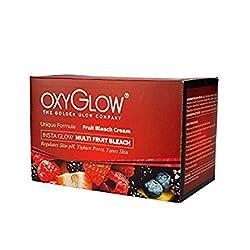 Oxy Glow Natures Care Insta Glow Multi Fruit Bleach Cream Regualtes Skin pH, Tighten Pores, Tones Skin 50 Gram
