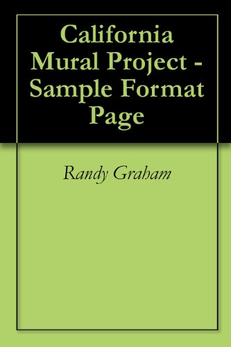 California Mural Project - Sample Format Page (English Edition)