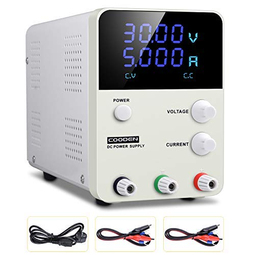 DC Einstellbar Stromversorgung COODEN Labornetzgerät 0-30V 0-5A DC regulated power supply switch Digital dispaly Einstellbar Stromversorgung Schalter CP305S