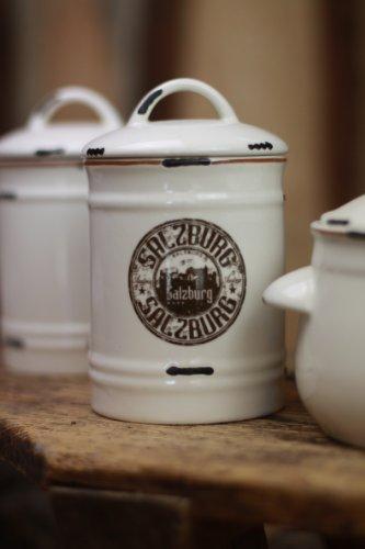 nostalgische Vorratsdose Salzburg Shabby Landhaus Dose antik Aufbewahrungsbox