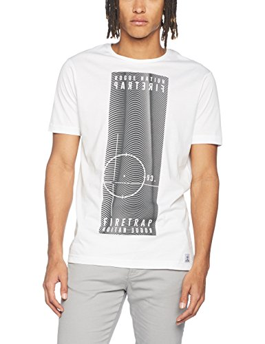 Firetrap Herren T-Shirt Mens Tee Tabb Weiß