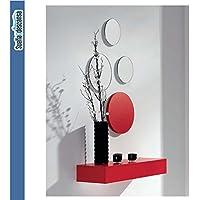 Sueña y Descansa Entrada Espejos + cajón en Color Rojo