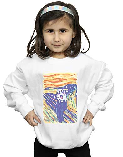 t Trinidad Mädchen Kawaii Scream Sweatshirt Weiß 3-4 Years ()