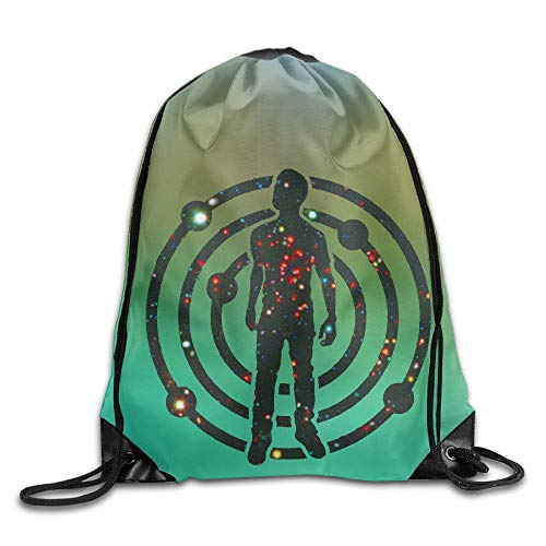 oldable Large Capacity Drawstring Backpack Bag Kid Cudi Satellite Flight The Journey to Mother Moon ()