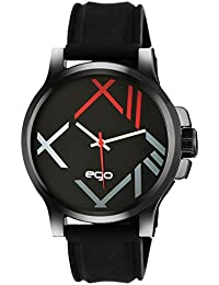 Ego by Maxima Analog Black Dial Men's Watch - E-01174PAGB