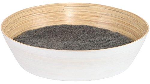 SILVIO DESIGN Katzenkorb Ajumi Gr. 2, B/L/H: 60/60/15 cm, weiß 60 cm, 15 cm, weiß