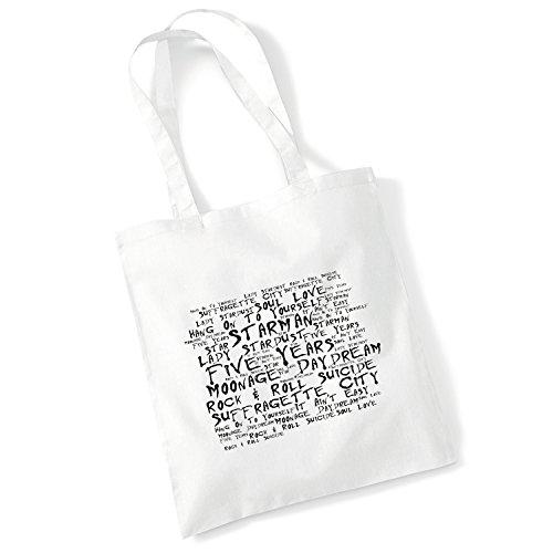 Art Studio Tote Bag BOB DYLAN Lyrics Print Album Poster Gym Beach Shopper Gift