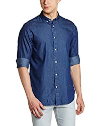 blackberrys Mens Casual Shirt (8907196395113_US-IDG060-UC2-F2_40_Indigo)