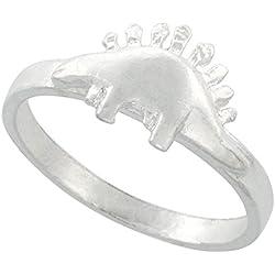Plata Esterlina anillo de estegosaurio