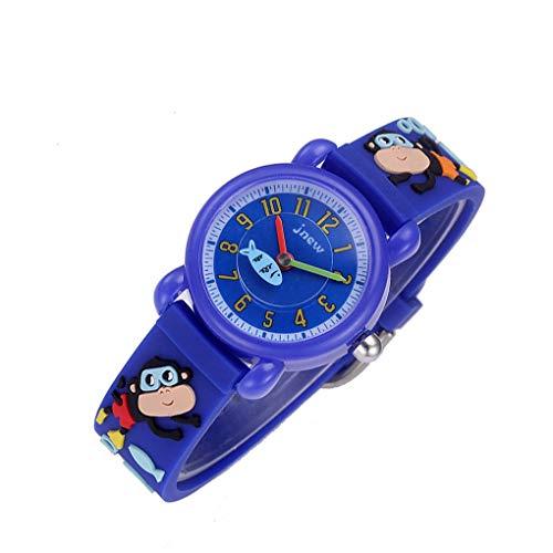 Arichtop Kinder Cartoon 3D-Muster-Entwurfs-Bügel-Uhr Jungen-Mädchen-Wasserdichte Quarz-Armbanduhr Birthaday Geschenk