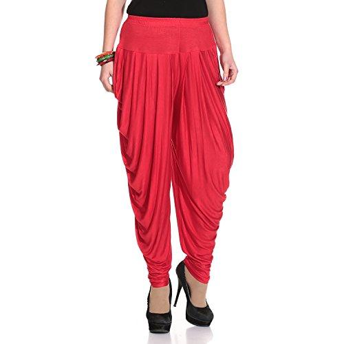 Legis Women's Lycra Dhoti Pant - DHOTI302_Red_Free Size
