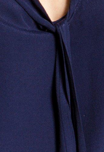CASPAR SRT023 Damen Viskose Shirt Dunkelblau