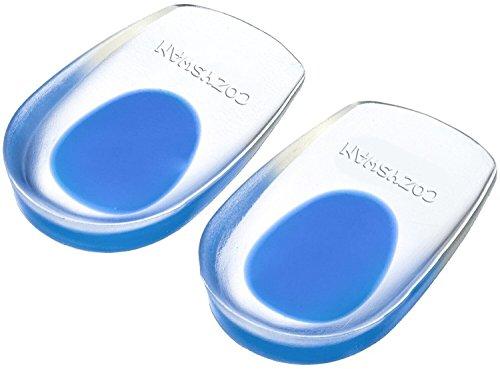 Plantillas Gel Amortiguación Ligera/Cómoda/Transpirable - 1 Par Almohadilla Talón para Zapatillas de Deportes