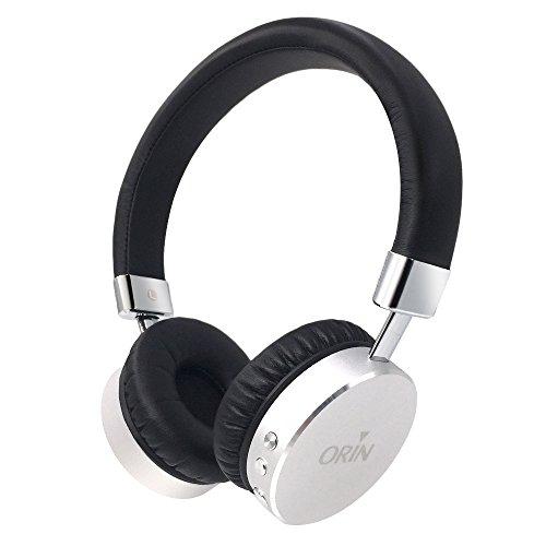 Cuffie Bluetooth, Orinsong Auricolari Wireless Bluetooth 4.1 Tecnologia Avanzata Durata Batteria Estesa con Microfono Incorporato per Chiamate Cellulare Cuffie Antisudore (Nero)