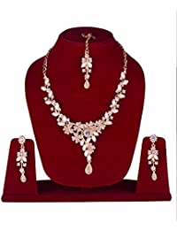 FULLY New Collection Designer Pearl Necklace Set With Earrings & Maang Tikka / Pearl Necklace Set For Wedding...